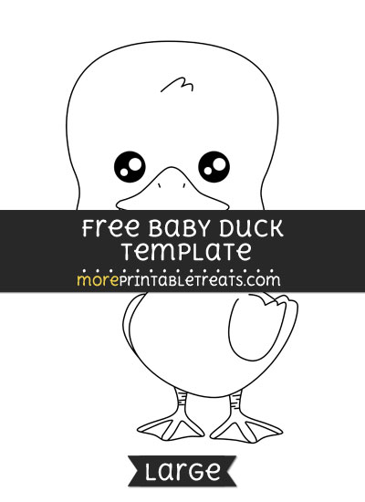 Free Baby Duck Template - Large