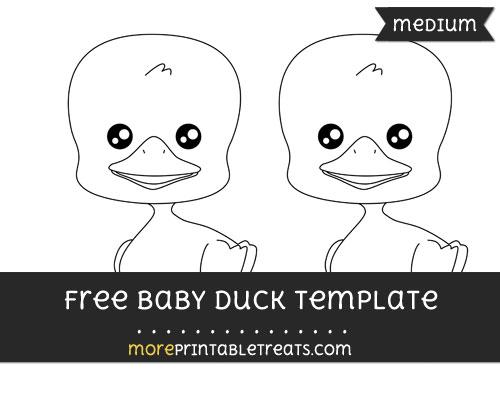 Free Baby Duck Template - Medium