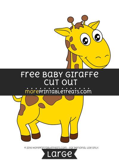 Free Baby Giraffe Cut Out - Large
