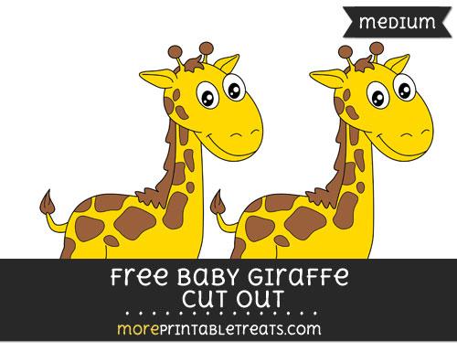 Free Baby Giraffe Cut Out - Medium