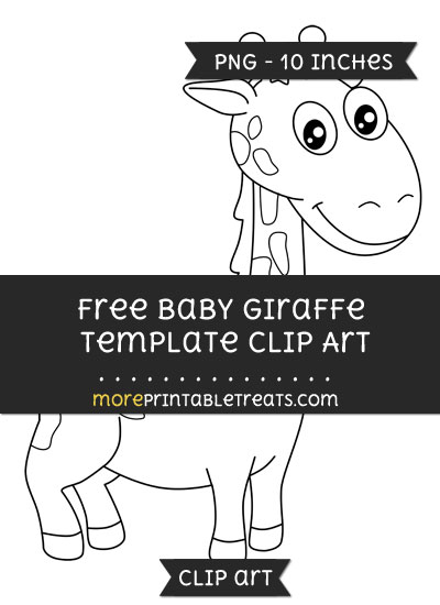Free Baby Giraffe Template - Clipart