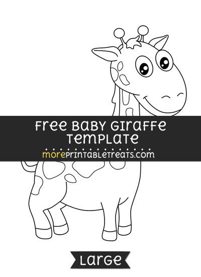 Free Baby Giraffe Template - Large