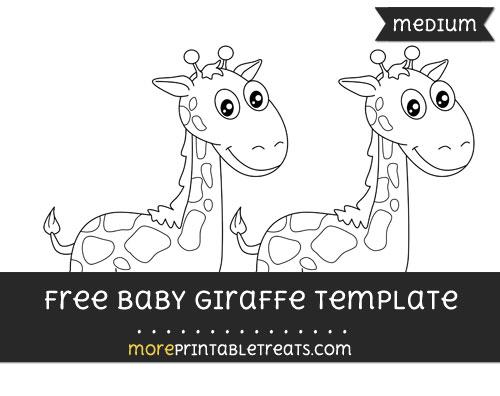 Free Baby Giraffe Template - Medium