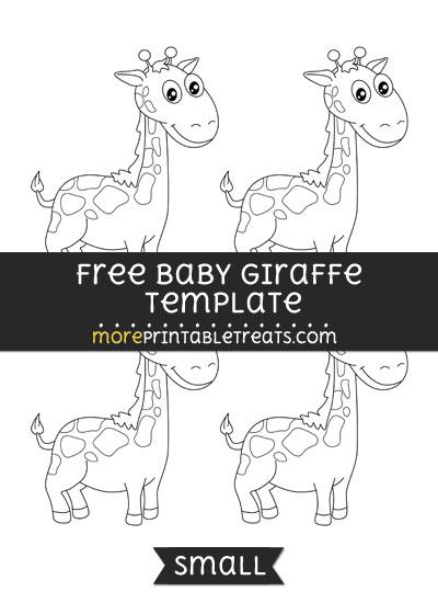 Free Baby Giraffe Template - Small