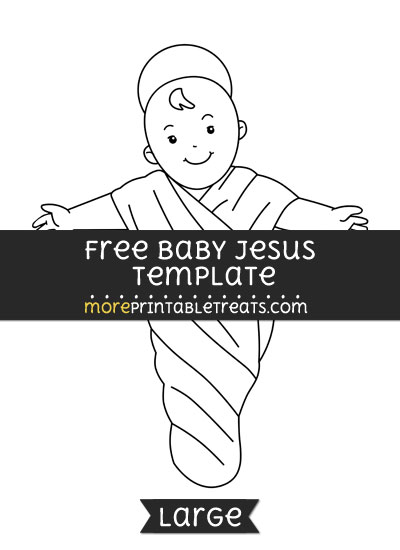 Free Baby Jesus Template - Large