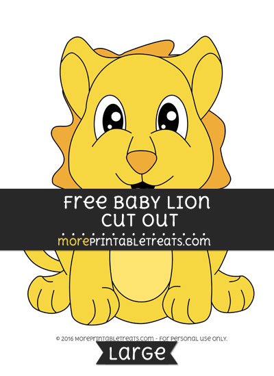 Free Baby Lion Cut Out - Large