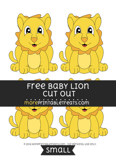Free Baby Lion Cut Out -Small