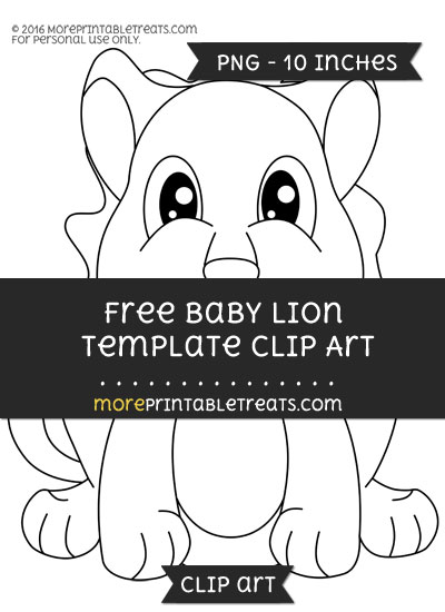Free Baby Lion Template - Clipart