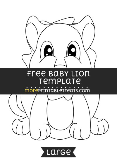 Free Baby Lion Template - Large