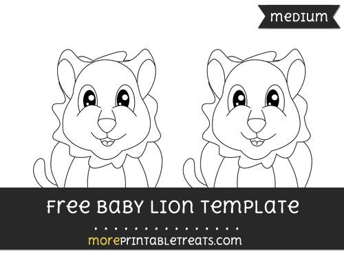 Free Baby Lion Template - Medium