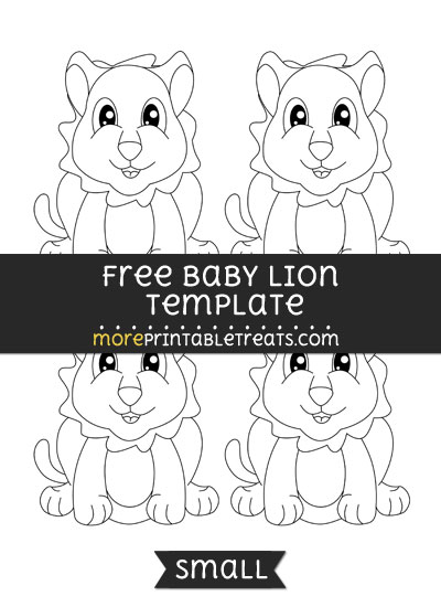Free Baby Lion Template - Small