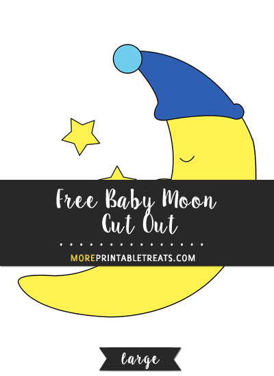 Free Baby Moon Cut Out - Large