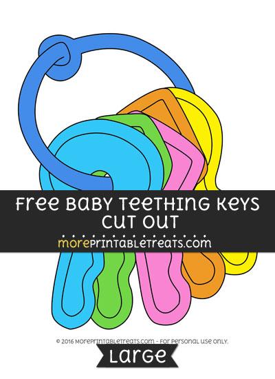 Free Baby Teething Keys Cut Out - Large