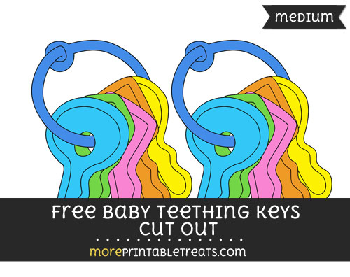 Free Baby Teething Keys Cut Out - Medium