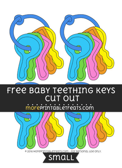 Free Baby Teething Keys Cut Out -Small