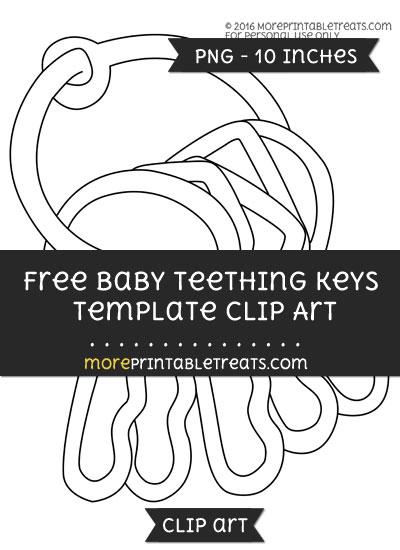 Free Baby Teething Keys Template - Clipart