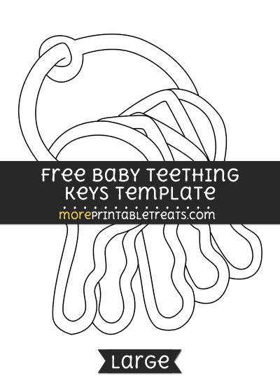 Free Baby Teething Keys Template - Large