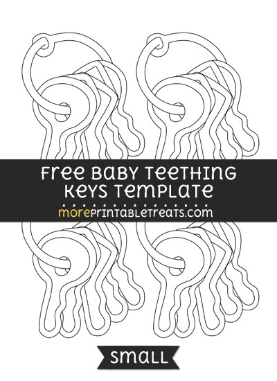 Free Baby Teething Keys Template - Small