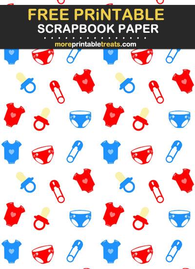 Free Printable Baby Theme Scrapbook Paper
