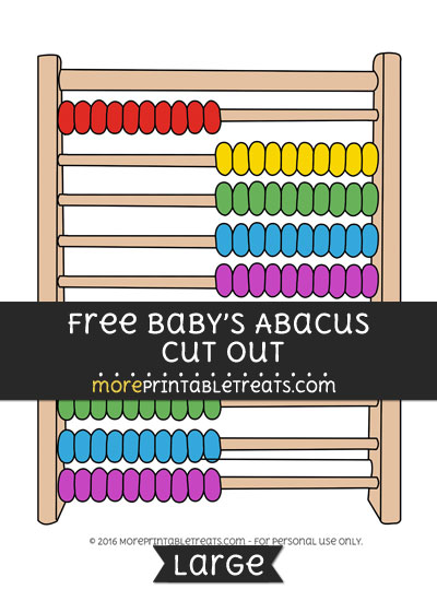 Free Babys Abacus Cut Out - Large