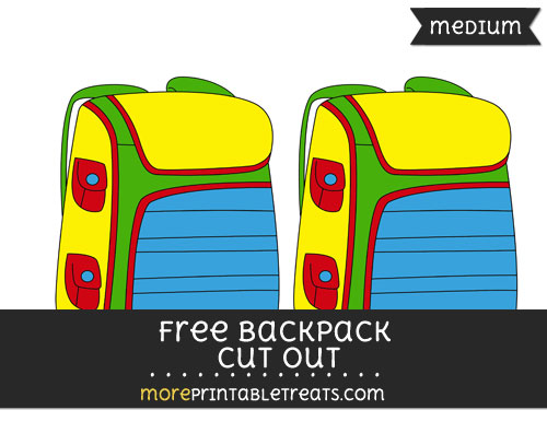 Free Backpack Cut Out - Medium