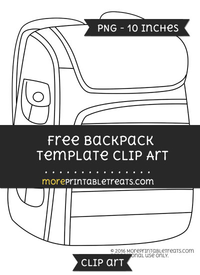 Free Backpack Template - Clipart