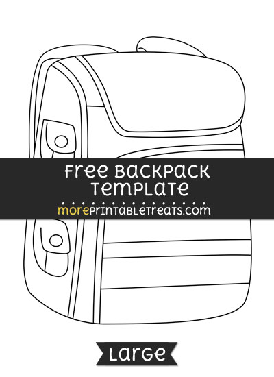 Free Backpack Template - Large