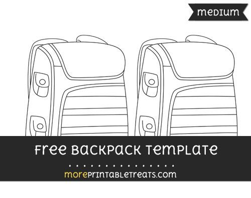 Free Backpack Template - Medium