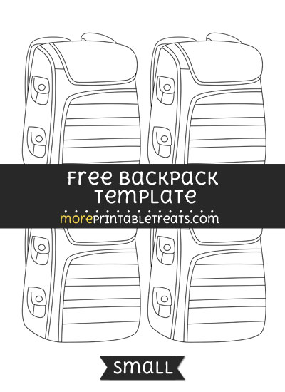 Free Backpack Template - Small