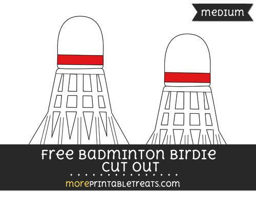 Free Badminton Birdie Cut Out - Medium