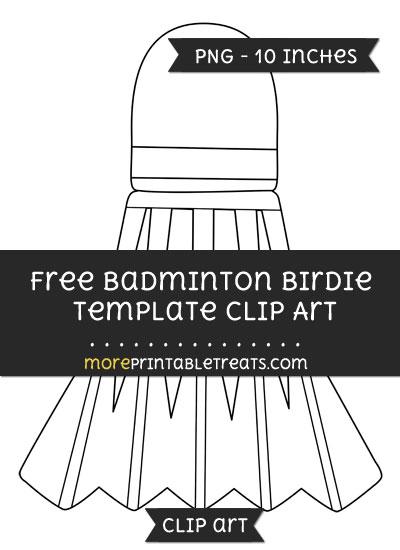 Free Badminton Birdie Template - Clipart