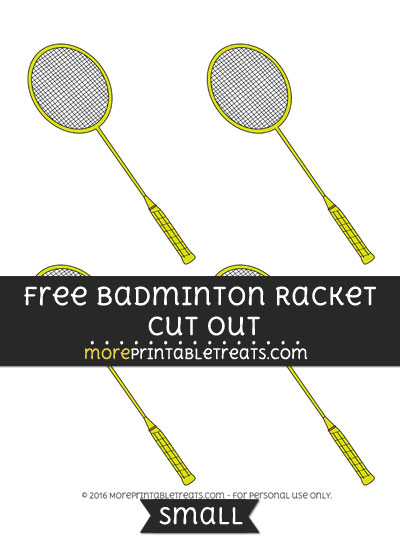 Free Badminton Racket Cut Out -Small