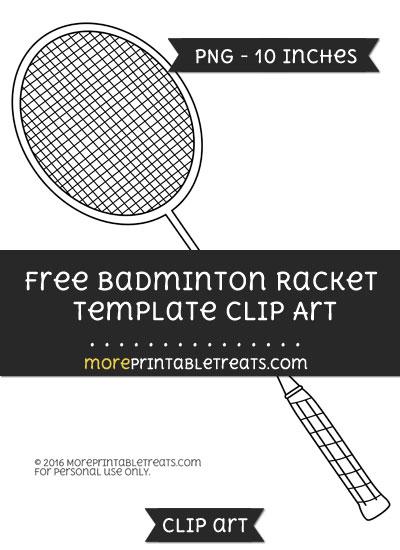 Free Badminton Racket Template - Clipart