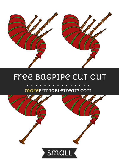 Free Bagpipe Cut Out - Small Size Printable