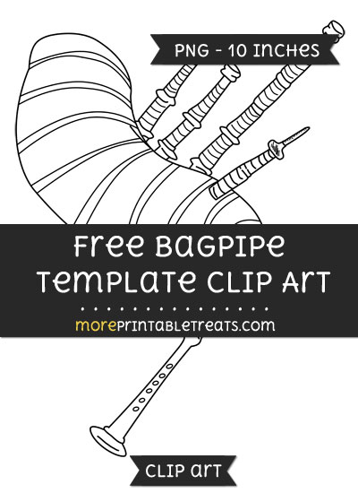 Free Bagpipe Template - Clipart
