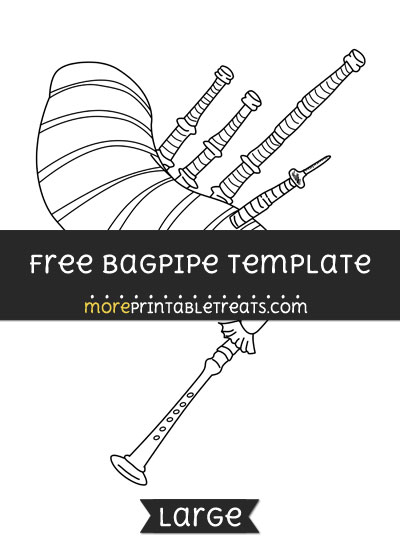Free Bagpipe Template - Large