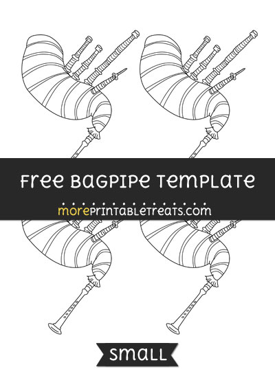 Free Bagpipe Template - Small