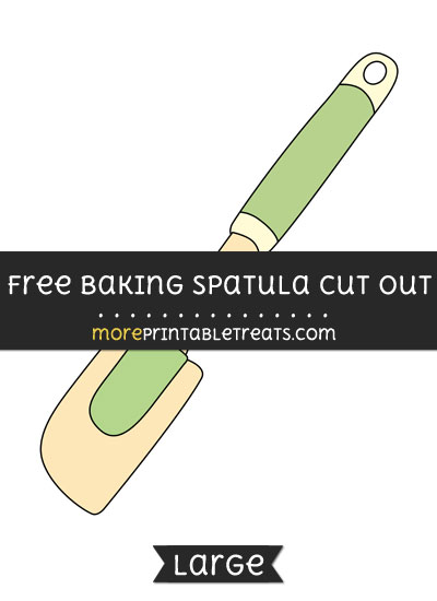 Free Baking Spatula Cut Out - Large size printable