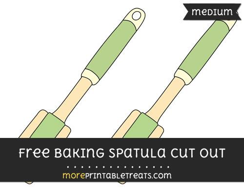 Free Baking Spatula Cut Out - Medium Size Printable
