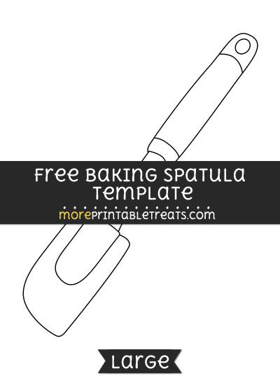 Free Baking Spatula Template - Large
