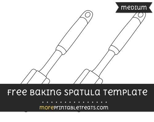 Free Baking Spatula Template - Medium