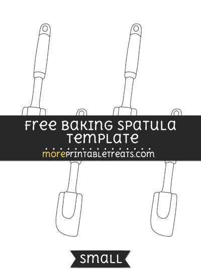 Free Baking Spatula Template - Small