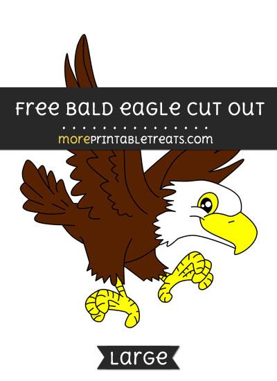 Free Bald Eagle Cut Out - Large size printable