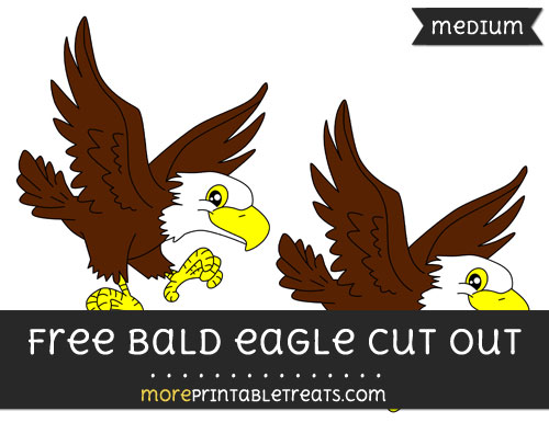 Free Bald Eagle Cut Out - Medium Size Printable
