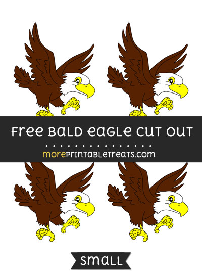 Free Bald Eagle Cut Out - Small Size Printable