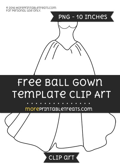 Free Ball Gown Template - Clipart
