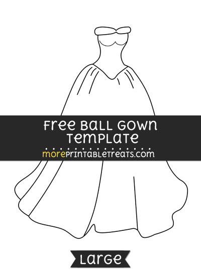 Free Ball Gown Template - Large