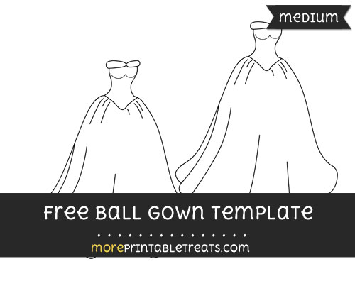 Free Ball Gown Template - Medium