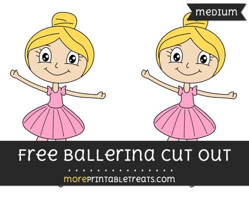 Free Ballerina Cut Out - Medium Size Printable