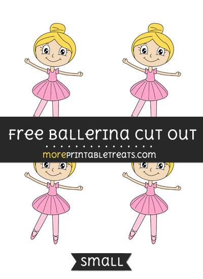 Free Ballerina Cut Out - Small Size Printable